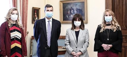 Συμβολική δράση της Ελληνικής Πνευμονολογικής Εταιρείας στο Προεδρικό Μέγαρο